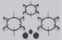 ###ψパロマ ビルトインコンロ部材【PBGS-900W】黒ごとくバーナーキャップセット