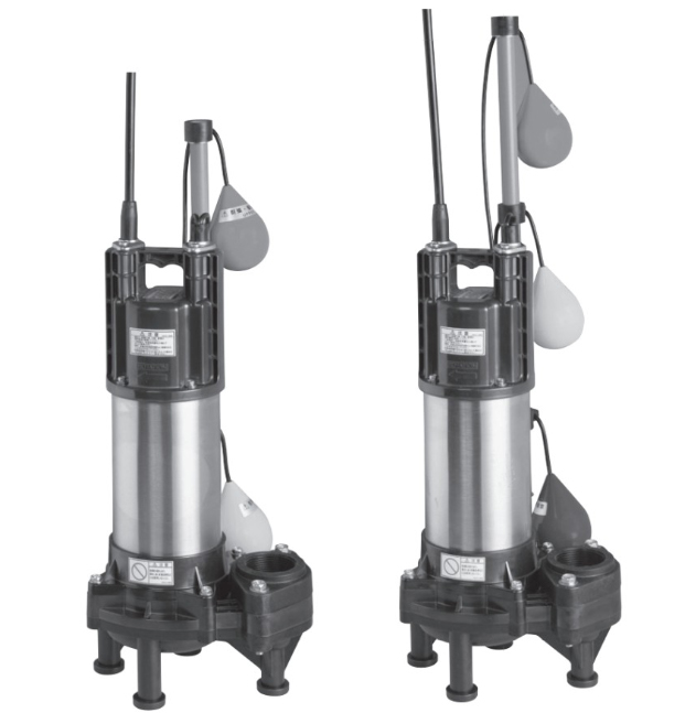 エバラ/荏原【65DWVA61.5+65DWVJ61.5】樹脂製汚水・汚物用水中ポンプ DWVA型+DWVJ型セット 三相 60Hz