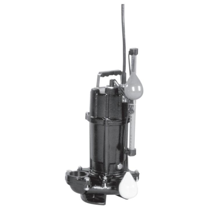 エバラ/荏原【50DVSA6.4SA】雑排水用セミボルテックス水中ポンプ DVSA型 自動型 単相 60Hz