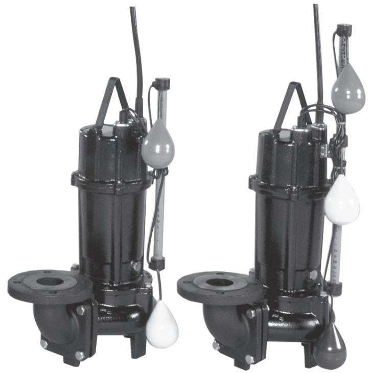 エバラ/荏原【50DV2A6.25A+50DV2J6.25A】汚水用ボルテックス水中ポンプ DV2A型+DV2J型セット 三相 60Hz