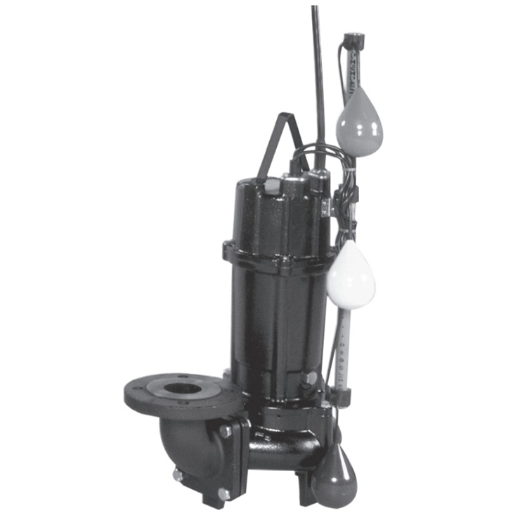 エバラ/荏原【80DV2J61.5】汚水用ボルテックス水中ポンプ DV2J型 自動交互内蔵型 三相 60Hz
