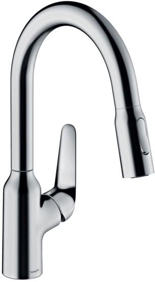 ハンスグローエ【71801004】M42 シングルレバーキッチン混合水栓 引出式 180(シャワー切替)