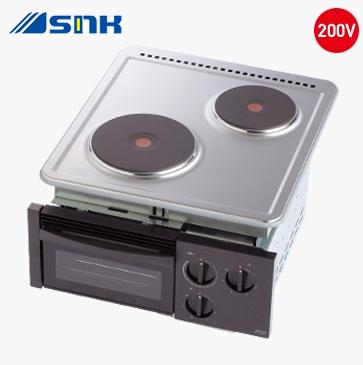 『カード対応OK!』### 三化工業【SPH-222GS】2口プレートヒーター前面操作