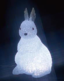 『カード対応OK!』〒ジェフコム イルミネーション照明【STM-F19-MA】ウサギ(中) LEDクリスタルモチーフ