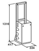 ###♪パーパス 給湯器 部材【MD-S10-32S】片側1台掛け台セット 配管なし