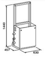 ###♪パーパス 給湯器 部材【MD-S10-55F】片側1台掛け台セット 主配管・両側フランジタイプ