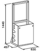 ###♪パーパス 給湯器 部材【MD-S10-55S】片側1台掛け台セット 配管なし