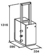 ###♪パーパス 給湯器 部材【MD-W20-32F】両側2台掛け台セット 主配管・両側フランジタイプ