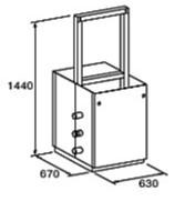 ###♪パーパス 給湯器 部材【MD-W20-55F】両側2台掛け台セット 主配管・両側フランジタイプ