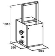 ###♪パーパス 給湯器 部材【MD-W40-32C】両側4台掛け台セット 主配管・片側閉塞タイプ