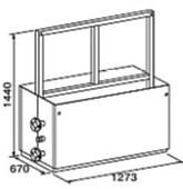 ###♪パーパス 給湯器 部材【MD-W40-55F】両側4台掛け台セット 主配管・両側フランジタイプ