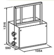 ###♪パーパス 給湯器 部材【MD-W60-32F】両側6台掛け台セット 主配管・両側フランジタイプ