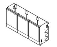 ###♪パーパス 給湯器 部材【MDK-SC31-50】片側3台用配管カバー