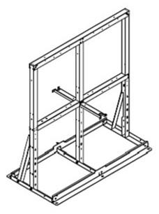 ###♪パーパス 給湯器 部材【MDK-W40-50】両側4台掛け台 組立式掛け台