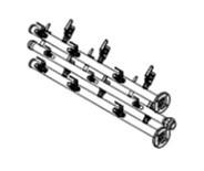###♪パーパス 給湯器 部材【MDK-WB61-50CE】両側6台延長用配管セット