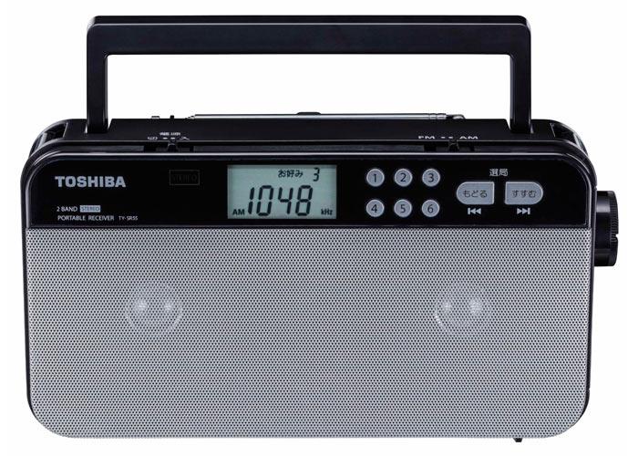 ω東芝 オーディオ【TY-SR55(S)】AM/FMホームラジオ シルバー