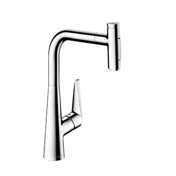 ∬∬ハンスグローエ【72823004】M51 シングルレバーキッチン混合水栓 セレクト 引出式ハイスパウト 300(シャワー切替)