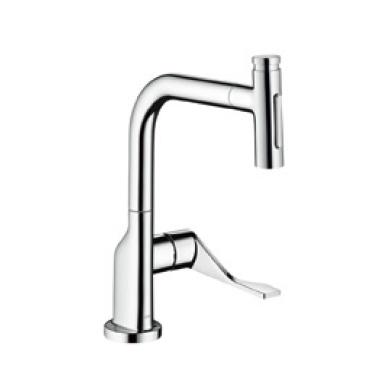 ハンスグローエ【39863004】アクサーチッテリオ セレクト シングルレバー引出式キッチンシャワー混合水栓 230