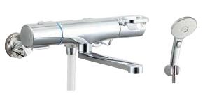 ▽INAX/LIXIL【BF-WM145TNSLMH】サーモスタット付シャワーバス水栓 クロマーレS エコアクアスイッチシャワー(めっき仕様) 寒冷地