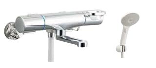 ▽INAX/LIXIL【BF-WM147TSJM】サーモスタット付シャワーバス水栓 クロマーレS エコアクアスイッチシャワー 一般地