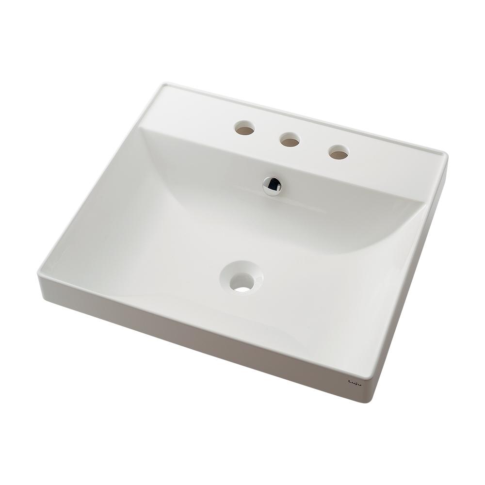 カクダイ【493-183】角型洗面器 3ホール