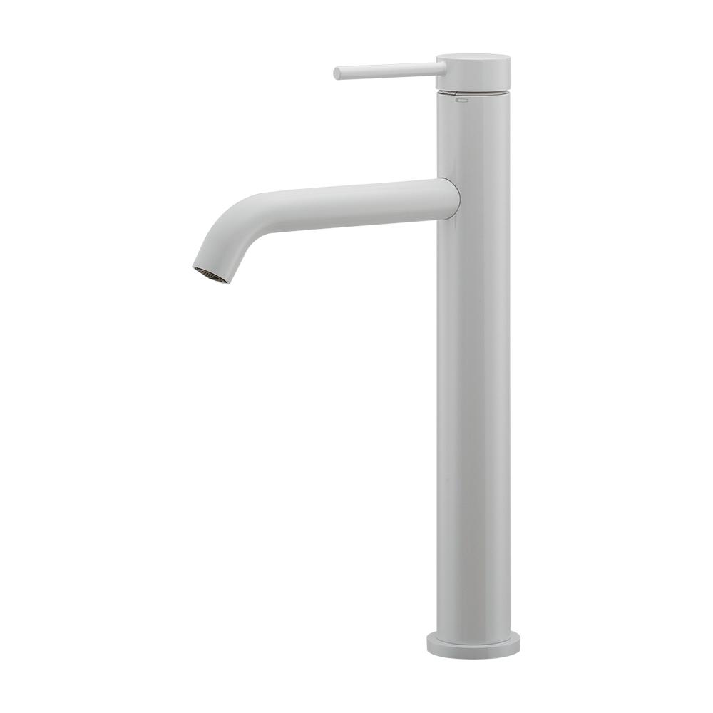 カクダイ【183-227-W】シングルレバー混合栓(トール) ホワイト 洗面
