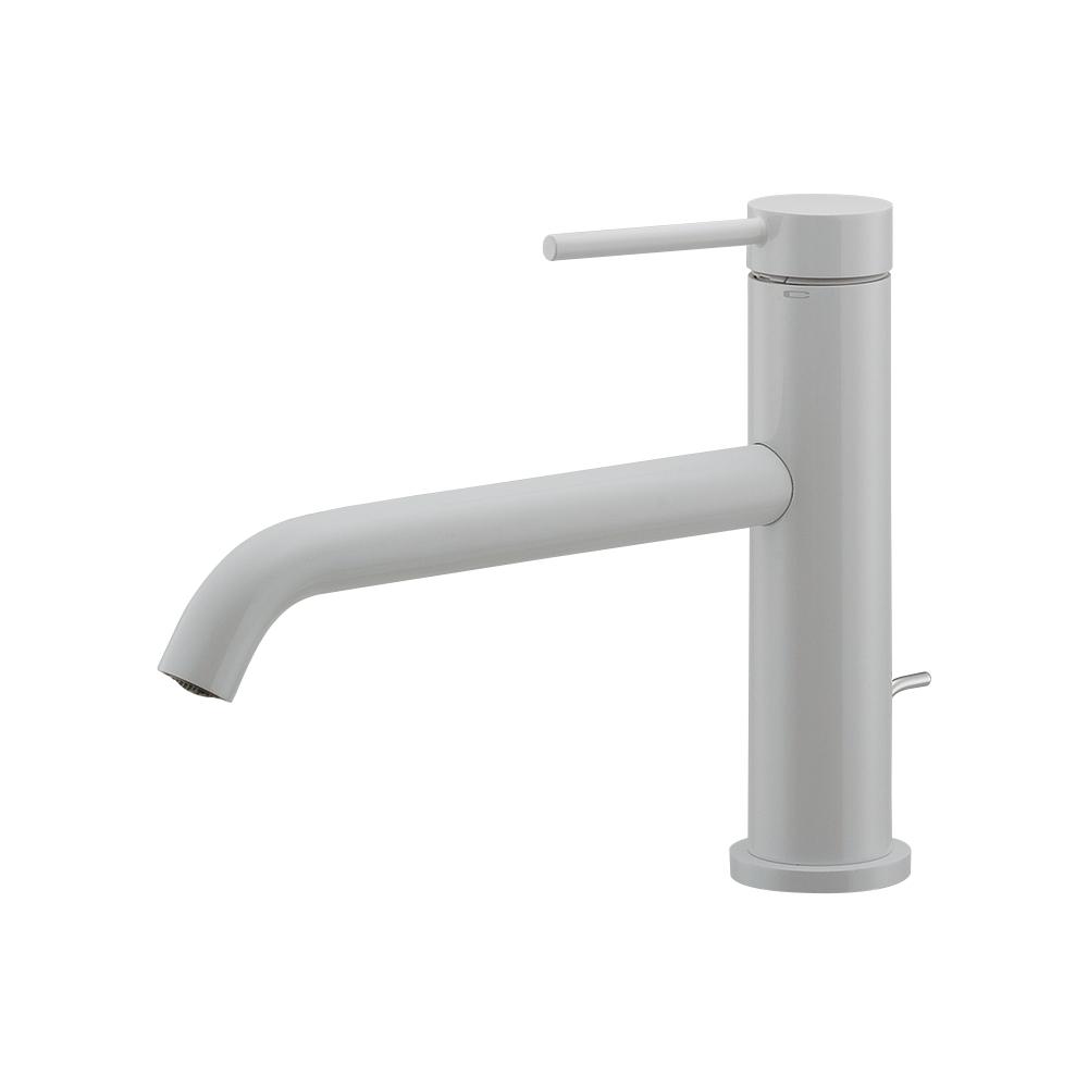 カクダイ【183-222-W】シングルレバー混合栓 ホワイト 洗面