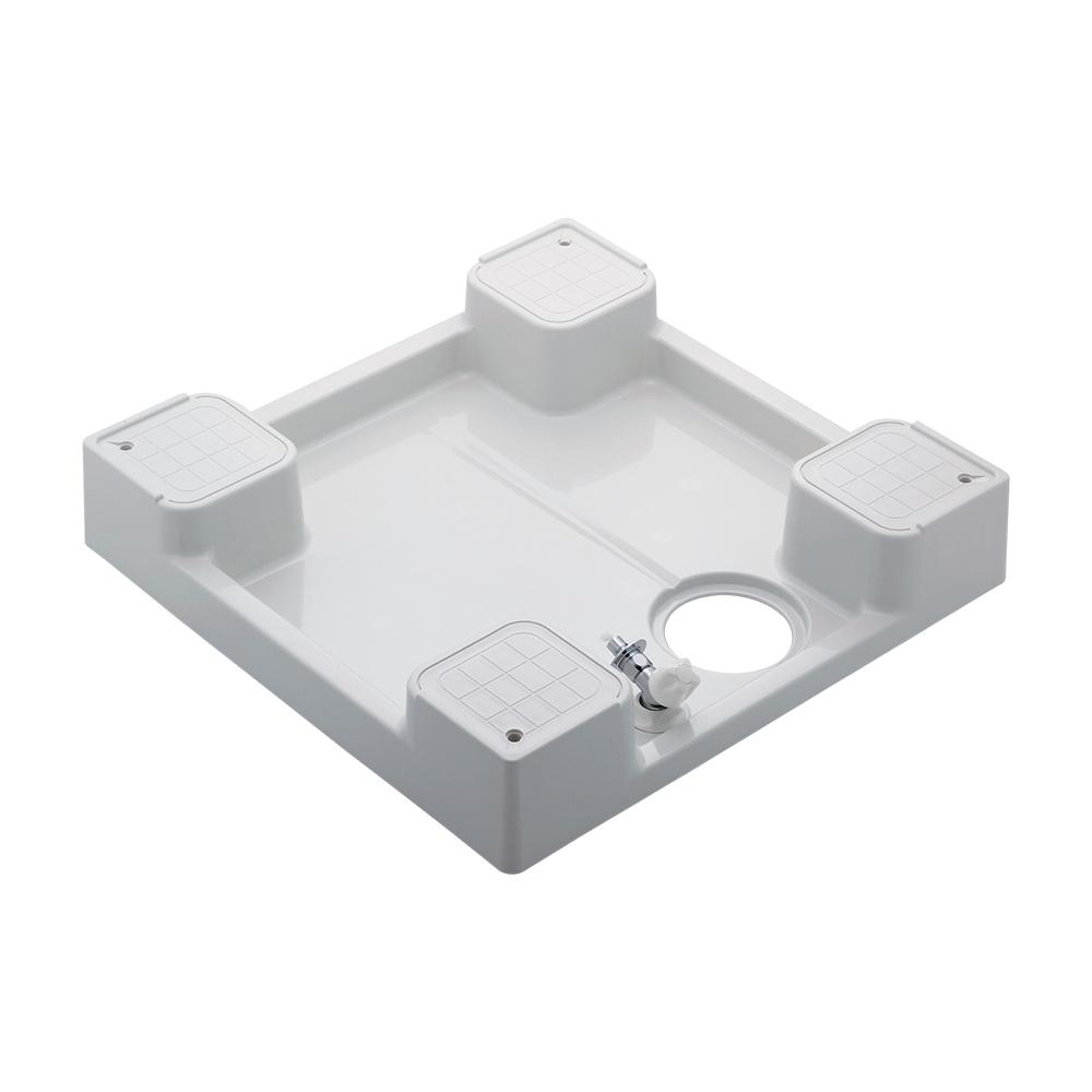 カクダイ【426-501K-W】洗濯機用防水パン(水栓つき) ホワイト