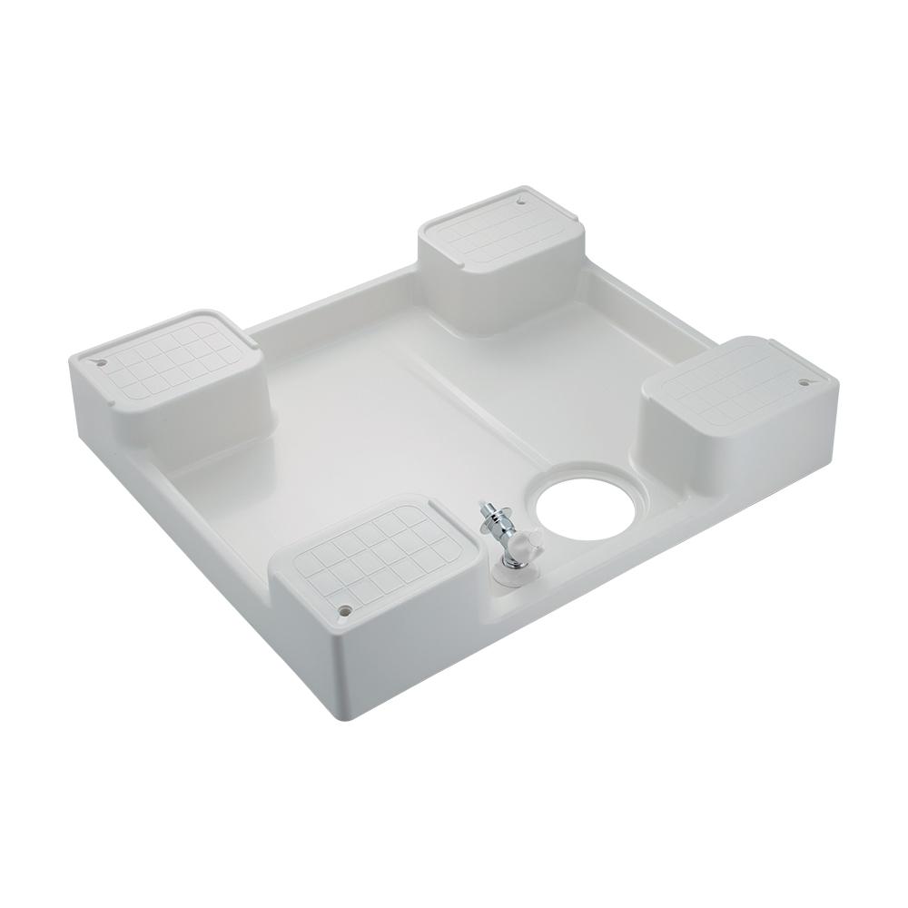 カクダイ【426-502K-W】洗濯機用防水パン(水栓つき) ホワイト