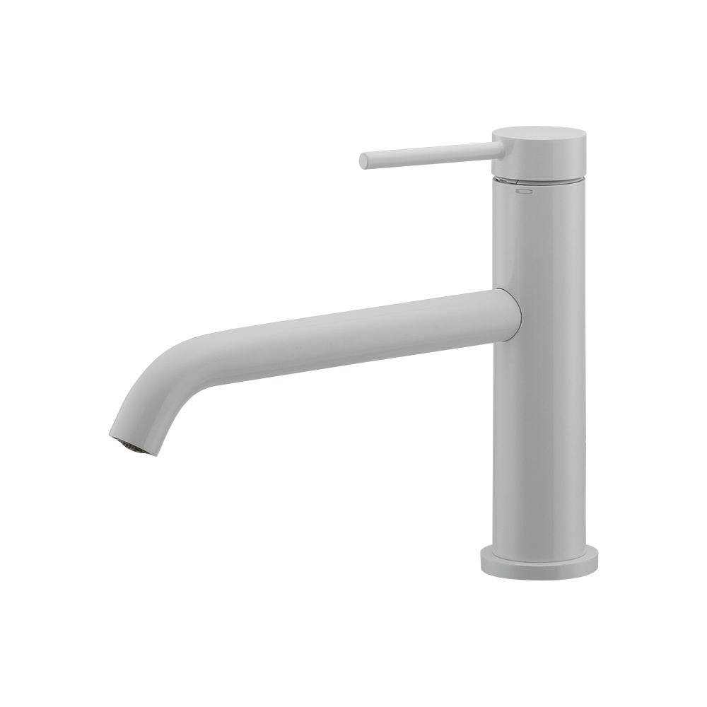 カクダイ【183-223-W】シングルレバー混合栓 ホワイト 洗面