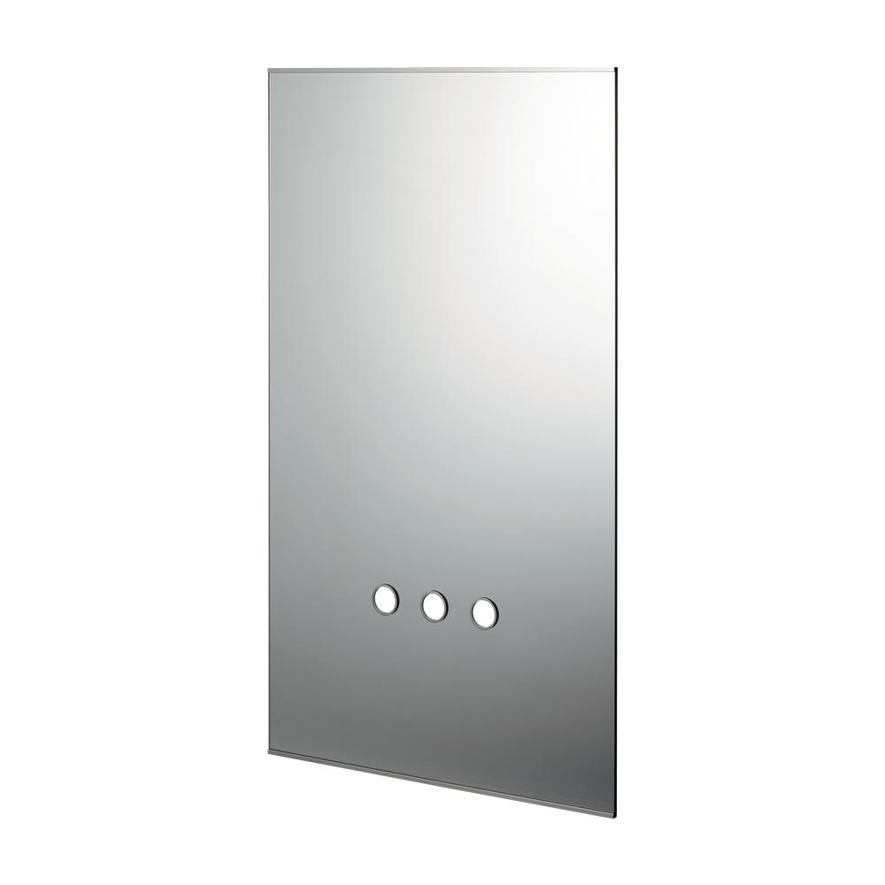 カクダイ【207-561】化粧鏡(水栓取付穴つき)