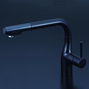 KVK【KM6101VECM5】シングルレバー式シャワー付混合栓 吐水口回転規制110°・80°対応 一般地用