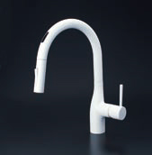 KVK【KM6071ECM4】シングルレバー式シャワー付混合栓(センサー付) マットホワイト 一般地用