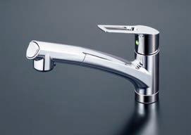 KVK【KM5021TECHS】シングルレバー式シャワー付混合栓 撥水パワーシングル 一般地用