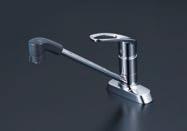 KVK【KM5081ZTFR2】シングルレバー式シャワー付混合栓 200mmパイプ付 寒冷地用