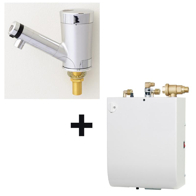 ミナミサワ【SS2VMD】Sui Sui MIX 小型電気温水器セット(ESW03) 自動水栓 非接触