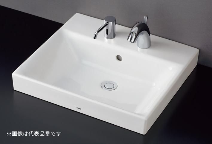 ###TOTO セット品番【LS722C #NW1+TLG10301J】カウンター式洗面器 ベッセル式 ホワイト 台付シングル混合水栓(エコシングル) 床排水金具(Sトラップ)