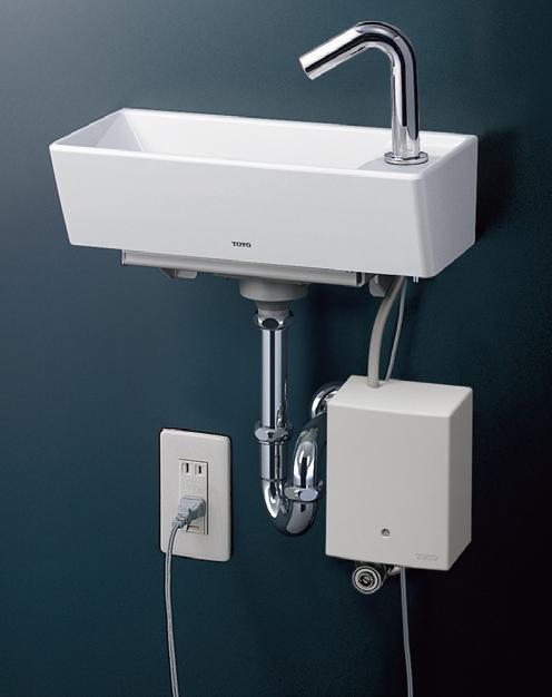 ###TOTO【LSE50AP】壁掛手洗器(角形) 自動水栓セット Pトラップ(壁給水 壁排水)