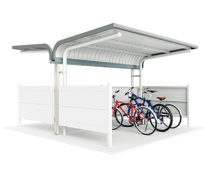 ###u.イナバ物置/稲葉製作所【BP-24VU        】BP 自転車置場 一般型 埋め込み式 基本棟 12台収納 注2週