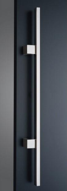 ####u.神栄ホームクリエイト【FHS3104-B-800】ドアハンドル Square Handle 角パイプ ハンドル 仕上げ:鏡面