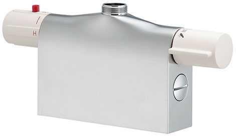 『カード対応OK!』カクダイ【175-400K】サーモスタットシャワー混合栓本体(デッキタイプ)