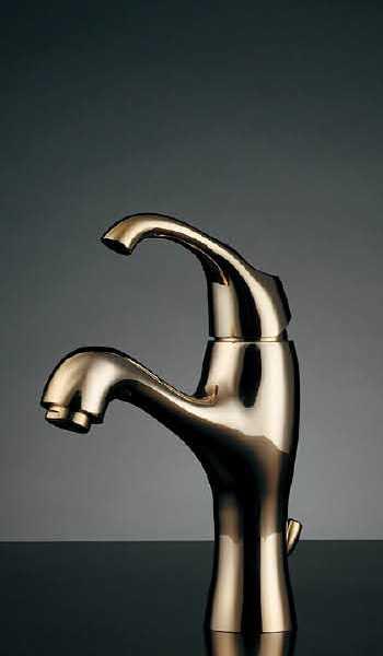 ###カクダイ【183-100K-CG】シングルレバー混合栓(クリアブラス) 受注生産