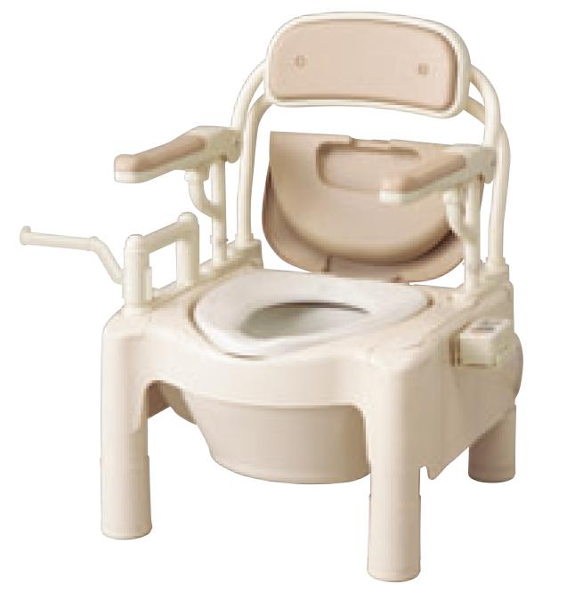 ###アロン化成 安寿【870-092】腰掛便座 ポータブルトイレ FX-CPH-Tハネアゲ ちびくまくん 暖房便座 トランスファータイプ
