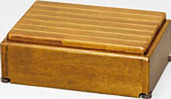 ###アロン化成 安寿【535-572】段差解消商品 木製玄関台 S45W-30-1段 ライトブラウン