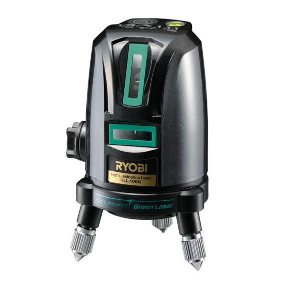 リョービ/RYOBI【HLL-100G】(4370449) レーザー墨出器 グリーンレーザー 水平ライン約110度・垂直ライン×1本