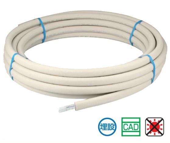 オンダ製作所【PEX10CT-P10-50F】樹脂管 カポリツインW 10A 被覆付 50(m/巻)