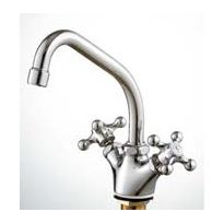 三栄水栓/SANEI 混合水栓【K811YV-13】ツーバルブワンホール混合栓 ナット式