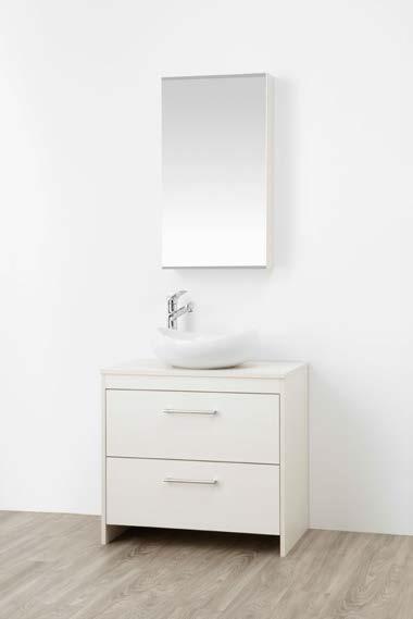 ###三栄水栓/SANEI【WF015S2-750-IV-T2】(木目ホワイト) 洗面化粧台 (鏡付) WAILEA