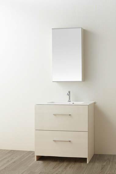 ###三栄水栓/SANEI【WF019S2-750-IV-T1】(木目ホワイト) 洗面化粧台 (鏡付) WAILEA