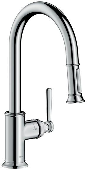 ハンスグローエ【16581000】アクサーモントルー シングルレバー引出式キッチンシャワー混合水栓 260